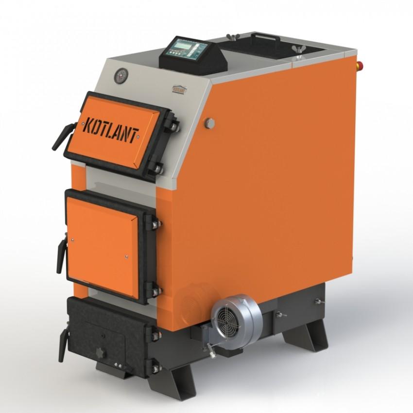 Твердотопливный котел КВУ-16 с электронной автоматикой и вентилятором