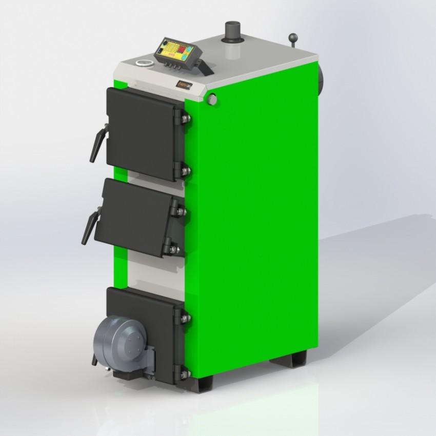 Твердотопливный котел KO-16-ЗД с электронной автоматикой и вентилятором