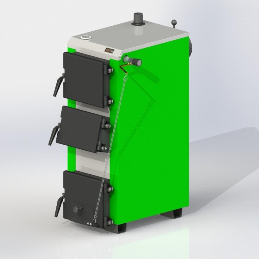Твердотопливный котел KO-16-3Д с механическим регулятором тяги