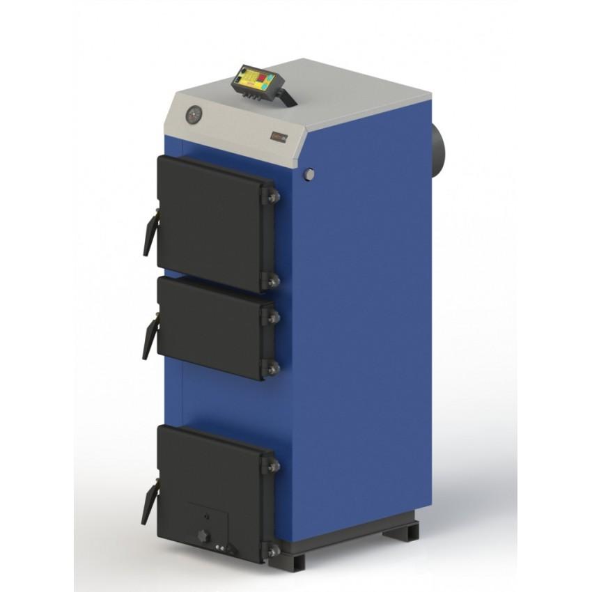 Твердотопливный котел M-19 с электронной автоматикой и вентилятором